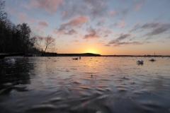 Solnedgång på Vendelsjön